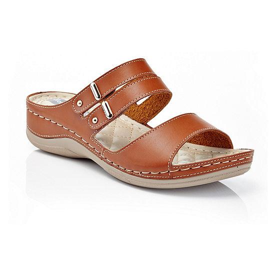 Henry Ferrera Womens Comfort-Aaa Flat Sandals