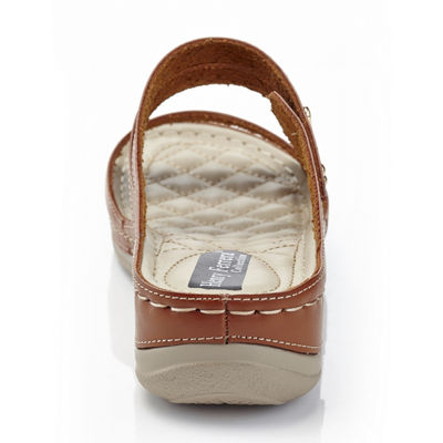 Henry Ferrera Comfort-Aaa/Brown Womens Flat Sandals