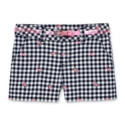 Arizona Twill Belted Midi Shorts Girls 4-16 and Plus