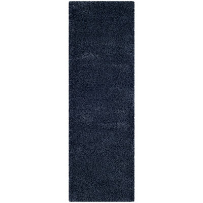 Safavieh Santa Monica Shag Collection Ainsley Solid Runner Rug