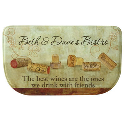 Bacova Guild Wine With Friends Personalized Rectangular Kitchen Mat