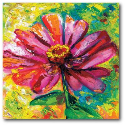 Zinnia Ampersand Canvas Art