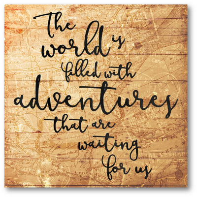The World Is Full Of Adventure Canvas Art