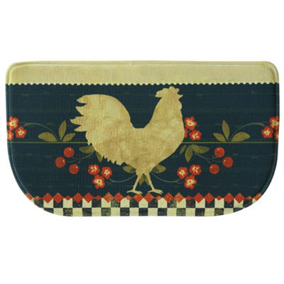 Bacova Guild Retro Rooster Personalized Rectangular Kitchen Mat
