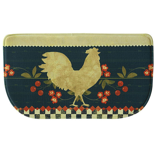 Bacova Guild Retro Rooster Personalized Rectangular Anti-Fatigue Indoor Kitchen Mat