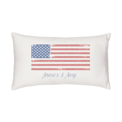 Cathy's Concepts Personalized Flag Lumbar Rectangular Throw Pillow