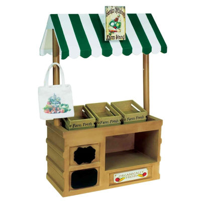 The Queen's Treasures 18 Inch Doll Changeable Farm Stand & Crates