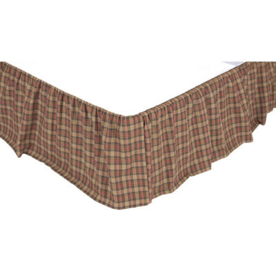 Ashton And Willow Cinnamon Plaid Bed Skirt