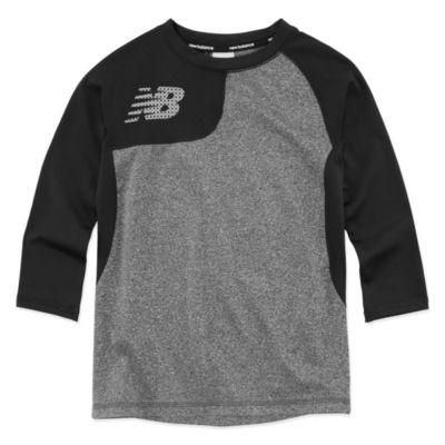 New Balance Long Sleeve T-Shirt-Preschool Boys