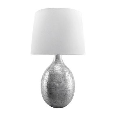 "Watch Hill 26"" Julia Aluminum Cotton Shade Table Lamp"