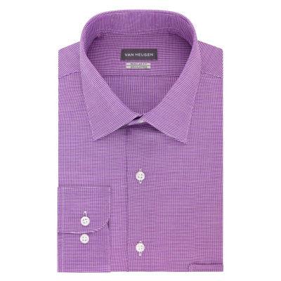 Van Heusen Vh Lux Reg Stretch Long Sleeve Sateen Dress Shirt