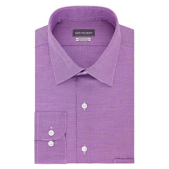 Van Heusen Lux Reg Stretch Long Sleeve Sateen Dress Shirt
