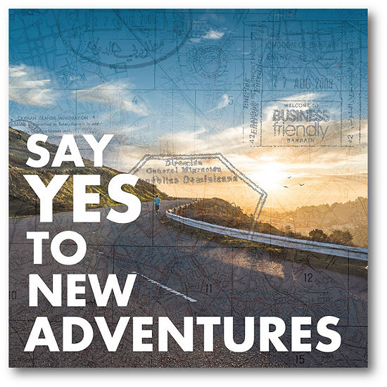 Courtside Market Say Yes To New Adventures Canvas Art