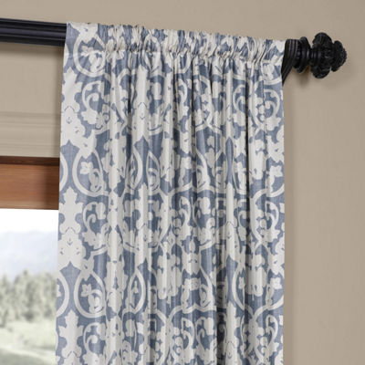 Exclusive Fabrics & Furnishing Rococo Faux Silk Taffeta Blackout Rod-Pocket/Back-Tab Curtain Panel