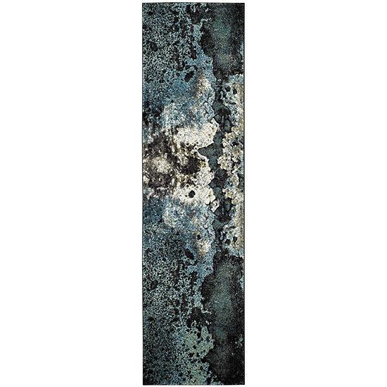 Safavieh Glacier Collection Eunice Geometric Runner Rug