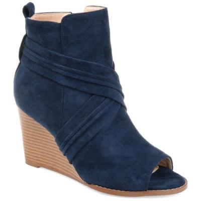 Journee Collection Womens Jc Sabeena Bootie Wedge Heel Zip