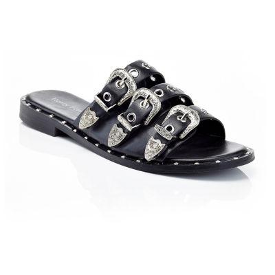 Henry Ferrera Motive-100/Black Womens Flat Sandals