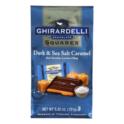 Ghirardelli Chocolate Squares Dark & Sea Salt Caramel 5.32 oz. Bag - 3 Pack