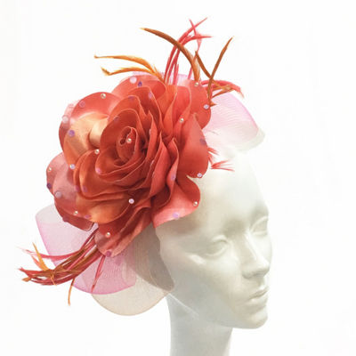 Whittall & Shon Flower Fascinator Derby Hat