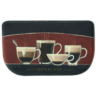 Bacova Guild Coffee Shop Personalized Rectangular Kitchen Mat