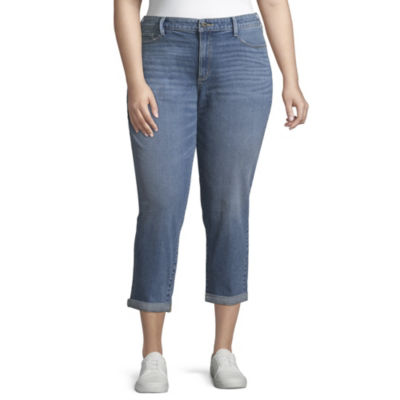 Arizona High-Rise Mom Jeans-Juniors Plus