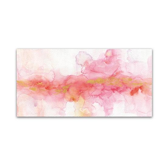 Trademark Fine Art Lisa Audit Rainbow Seeds Abstract Gold Giclee Canvas Art