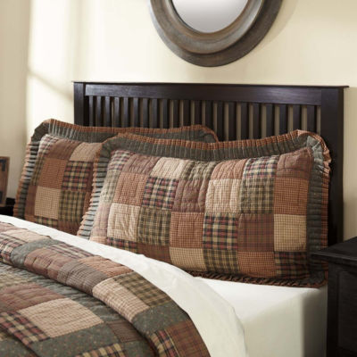 Ashton And Willow Cinnamon Plaid Reversible Pillow Sham