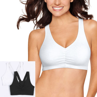 Hanes X-Temp® Comfy Support 2ply Pullover 2-Pack Wireless Racerback Unlined Full Coverage Bra-Dhhb70