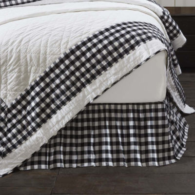 VHC Annie Buffalo Check Bed Skirts