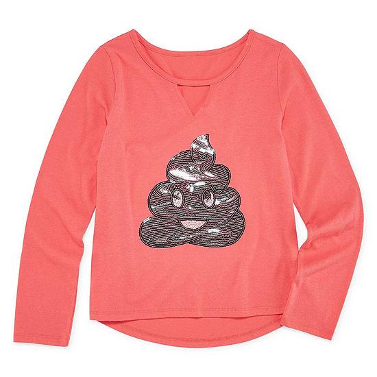 Arizona Girls Crew Neck Long Sleeve Graphic T Shirt Preschool