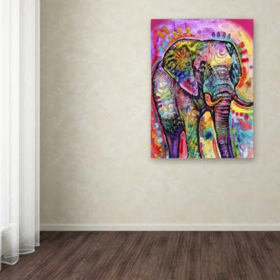 Trademark Fine Art Dean Russo Elephant Giclee Canvas Art