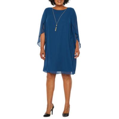 MSK Tulip Sleeve Shift Dress - Plus