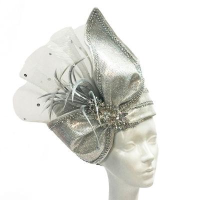 Whittall & Shon Pillbox Mesh Bow Derby Hat