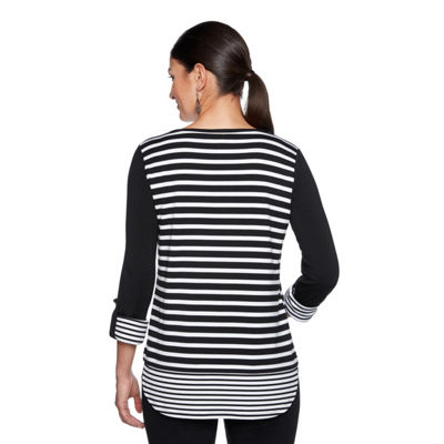 Lark Lane Roll Tab French Terry Tunic