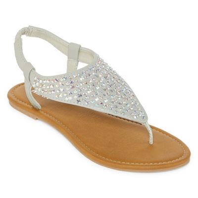 Mixit Womens Jewel Slide Sandals