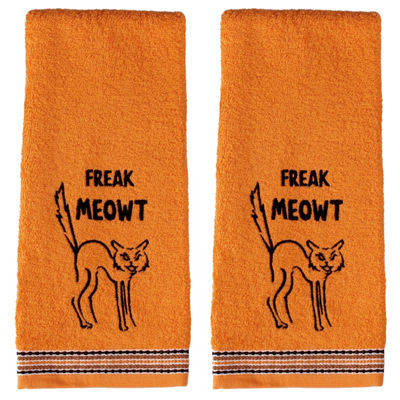 Saturday Knight Freak Meowt 2-pc. Embroidered Hand Towel