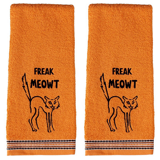 Saturday Knight Freak Meowt 2-pc. Animals + Insects Hand Towel