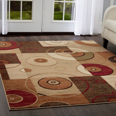 Home Dynamix Tribeca Hiram Abstract Rectangular 3-Piece Rug Set
