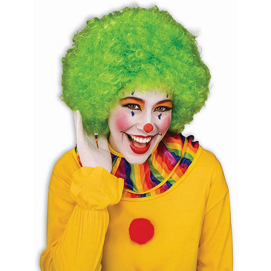 Green Afro Wig Dress Up Accessory