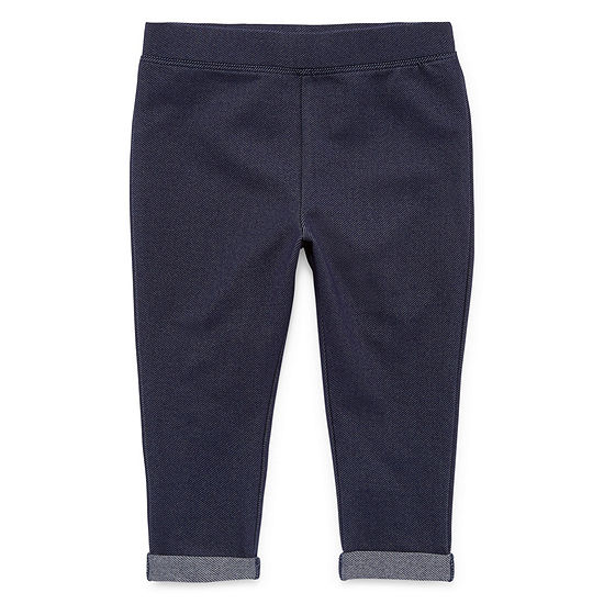 Okie Dokie Girls Jogger Straight Pull-On Pants - Baby