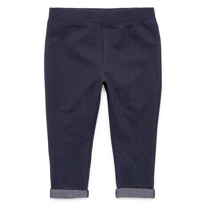 Okie Dokie Jogger Pull-On Pants, Girls, Knit Denim, Size 24 Months