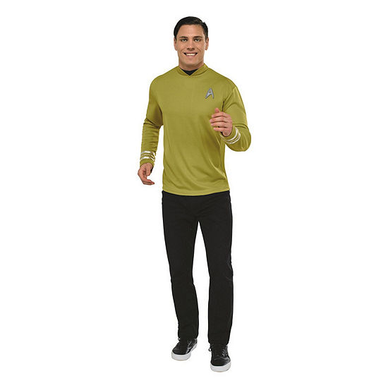 Star Trek Mens Deluxe Captain Kirk Costume Shirt