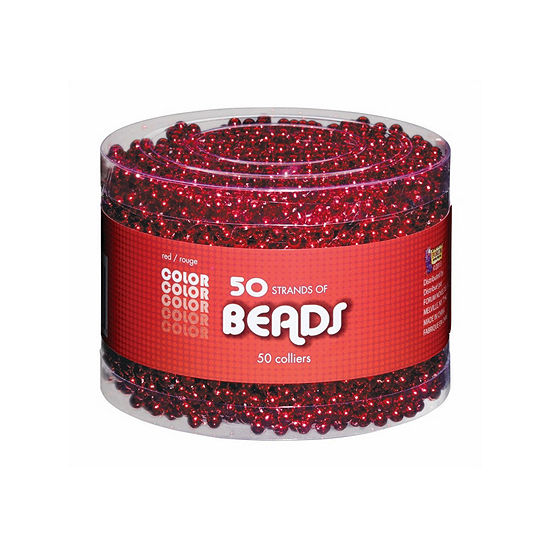 Red Bead Necklaces-Multipack Dress Up Accessory