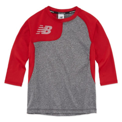 New Balance Long Sleeve Round Neck T-Shirt-Preschool Boys