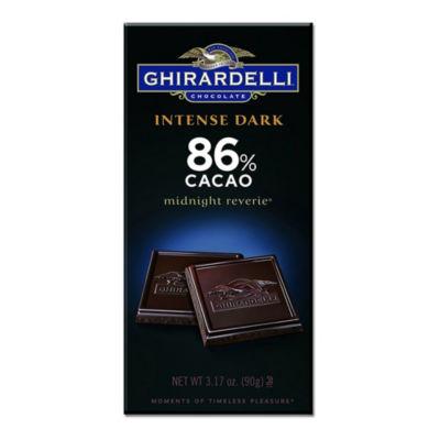 Ghirardelli Chocolate Intense Dark Midnight Reverie 86% Cacao Chocolate 3.5 oz - 12 Count