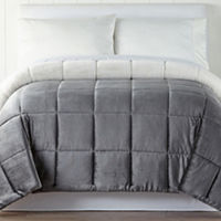JCPenney Home Mink/Faux Fur Heavyweight Reversible Comforter Deals