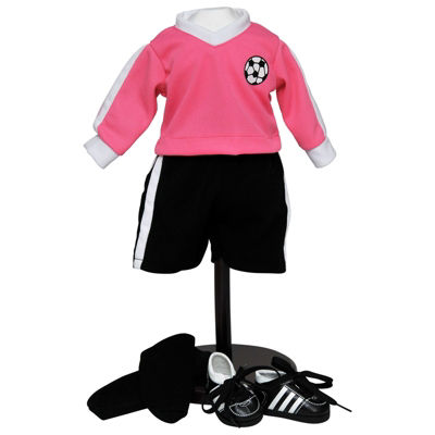 The Queen's Treasures Complete 18 Inch Doll Soccer Outfit & Shoes