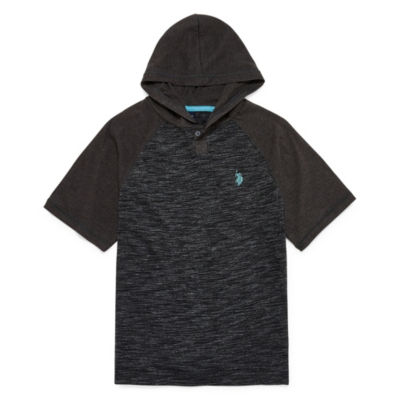 U.S. Polo Assn. Short Sleeve Hooded Neck T-Shirt-Big Kid Boys