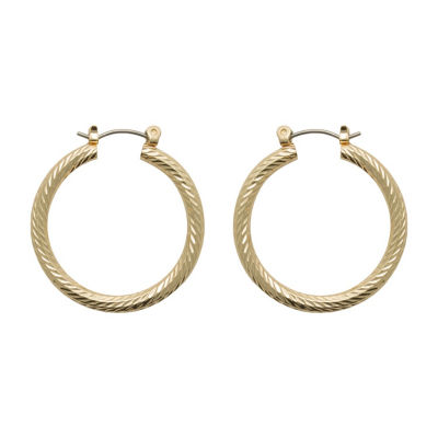 Bold Elements Copper 30mm Hoop Earrings