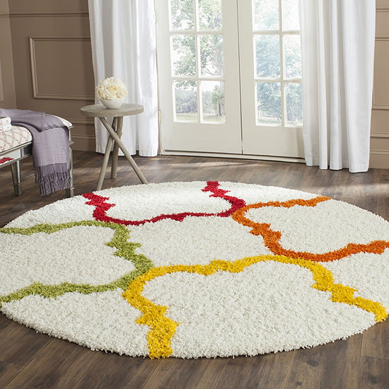 Safavieh Shag Kids Collection Matilda Geometric Round Area Rug